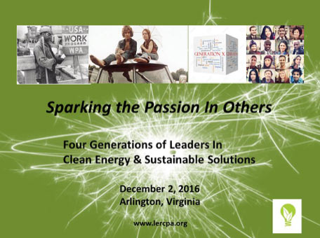 Four Generations of Leaders in Clean Energy & Sustainable Solutions Awards and Holiday Event